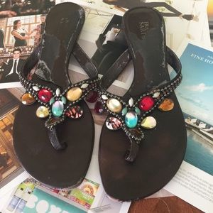 🆕Listing brown jeweled sandals